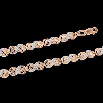 Armband aus Rotgold 585° mit Zirkonia