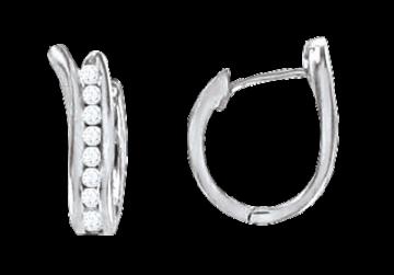 Creolen aus 925er Sterling Silber mit Zirkonia