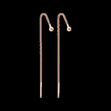 Ohrhänge als Durchzieher aus Rotgold 585°