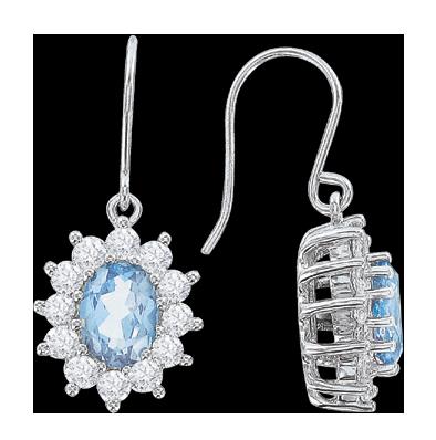 Ohrhaken aus 925er Sterling Silber mit Zirkonia