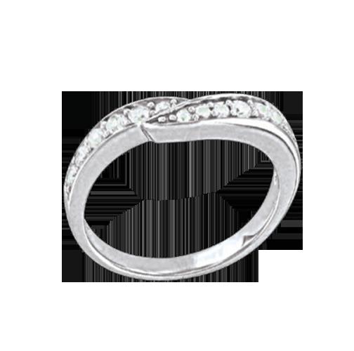 Damen-ring aus 925er Silber mit Zirkonia