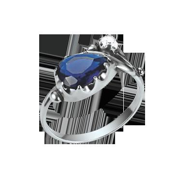 Damen-ring aus 925er Sterling Silber mit Zirkonia, Saphir HTS 56b92d5f38