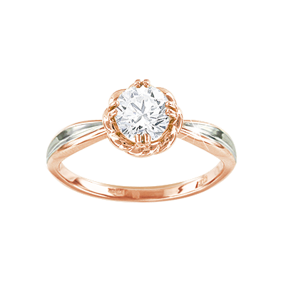 db4ac74e94864 Lady´s ring in red gold of 585 assay value with zirconia and ...