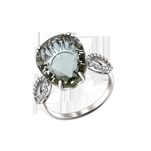 Damen-ring aus 925er Silber mit Zirkonia und Quarz 5072441e0d