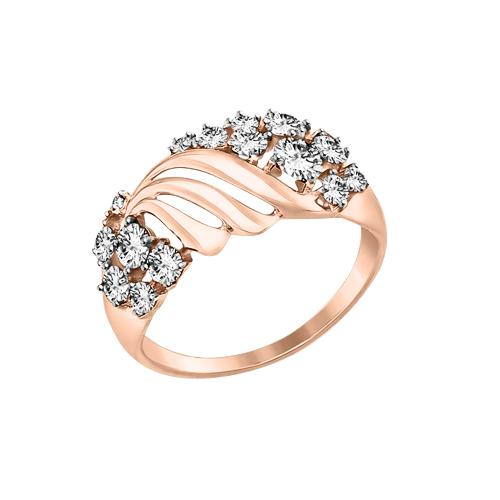 b9b92f38ac060 Lady´s ring in red gold of 585 assay value with Swarovski crystals